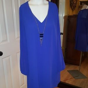 Tops - I.N. collection sheer royal blue necklace top Xl